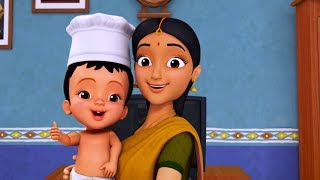 Bhojanam Ready - Playing with Kitchen Toys | Telugu Rhymes for Children | Infobells