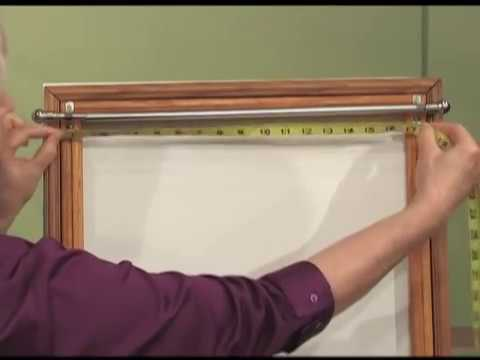 create quick rod pocket curtains