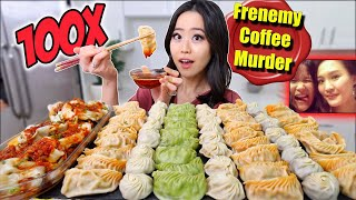 Download 100x SPICY DUMPLING CHALLENGE MUKBANG 먹방 | Eating Show Mp3 and Videos
