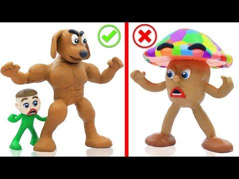 BABY PUPPY DOG COLORS MUSHROOM 馃挅 Cartoons Play Doh Stop Motion