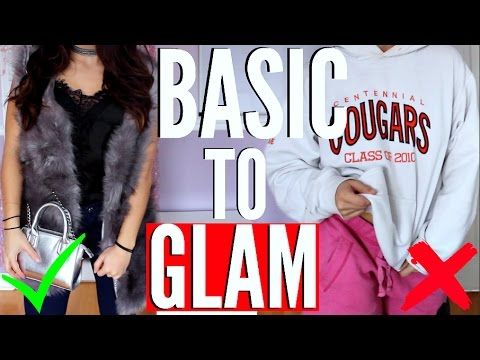 How to Build Your Wardrobe with BASICS | MAKE A Basic OUTFIT GLAM ! CLOTHING HACKS