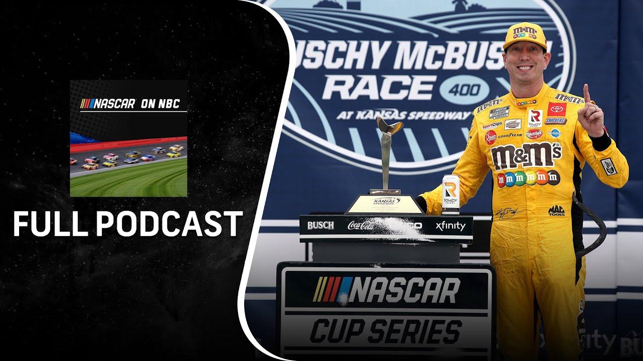 Kyle Busch extends streak at Kansas; Kyle Larson sees another win slip away   NASCAR on NBC Podcast