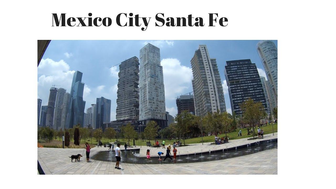 Mexico City Santa Fe Colonia New Modern Business Apartments Living Parque De Mexicana Youtube