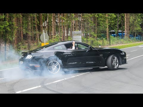Ford Mustang Compilation   Burnouts, Accelerations, Loud Sounds, ...