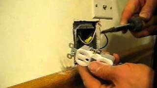 HOW TO INSTALL ELECTRICAL OUTLET - Converting Single Outlet To A Double Outlet