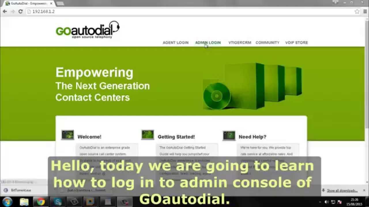 GOautodial Admin Login - YouTube