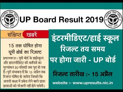 UP Board Result 2019, UP Board 12th Result 2019, UP High School Results 2019