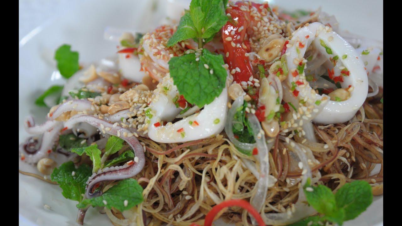Gỏi hải sản Thái Lan   Diệu Thảo hướng dẫn nấu ăn tại Vào bếp mỗi ngày