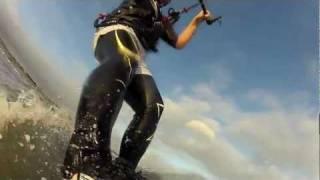 Kitesurfing in Sutton Beach when a line snapped again. HD V