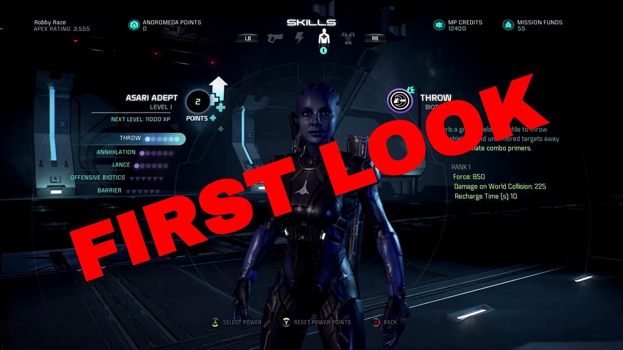 Mass Effect  Adept Build