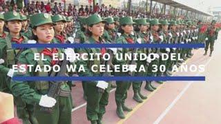 La guerrilla más poderosa de Birmania celebra su 30 aniversario con un desfile