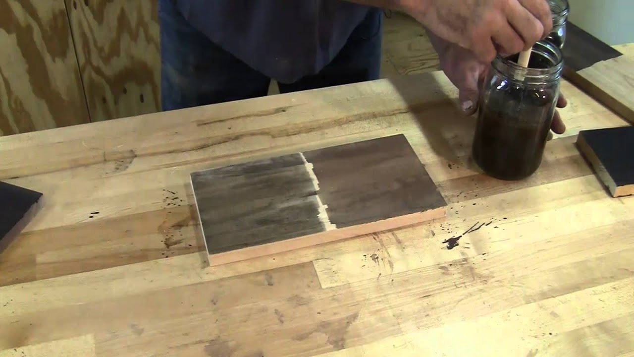 Ebonizing wood youtube