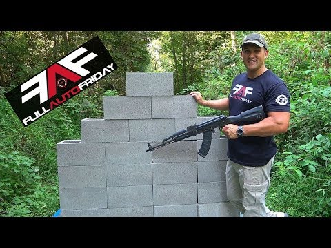 Full Auto Friday! AK-47 vs Cinder Block Wall! ⛏🦖
