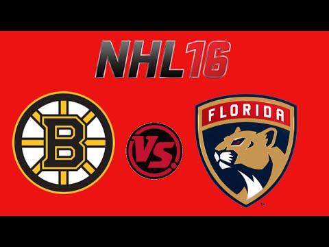 NHL 16 Boston Bruins VS Florida Panthers (PS4) (Season mode)