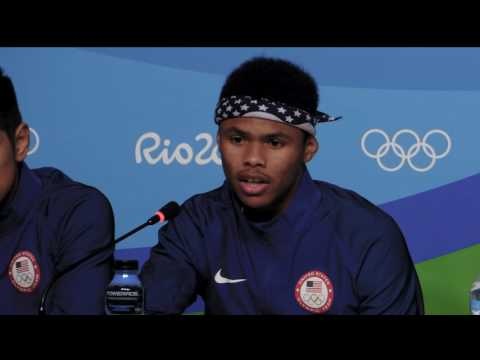 Team USA Boxers Speak To The Media In Rio
