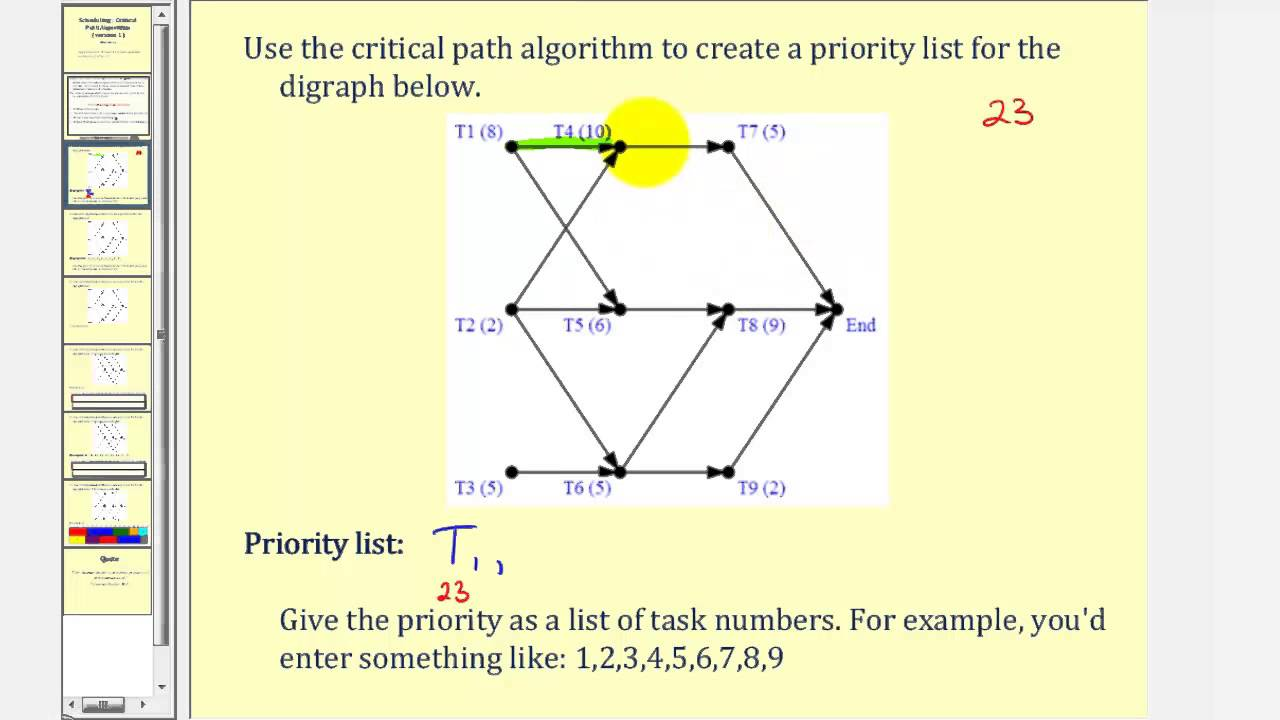 Scheduling: The Critical Path Algorithm Version 1 (Part 1) - YouTube