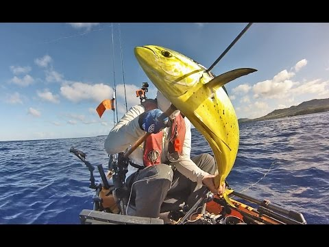 Kayak Fishing on Guam: Mahi from Hobie Pro Angler 14 (HD)