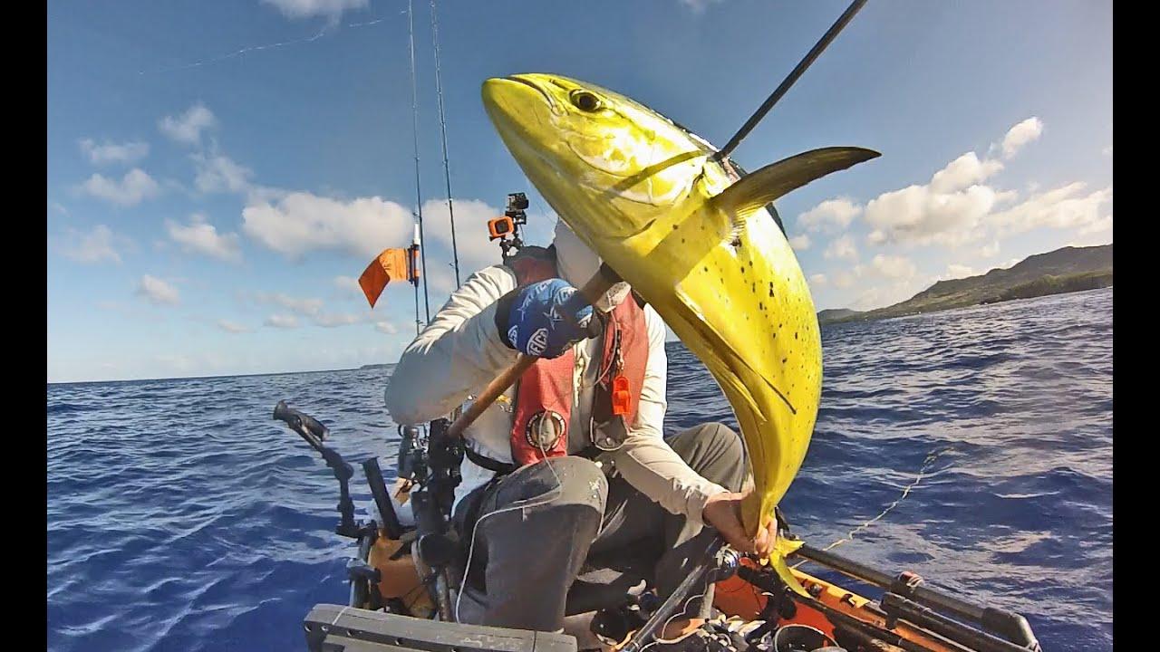 Kayak Fishing on Guam: Mahi from Hobie Pro Angler 14 (HD ...