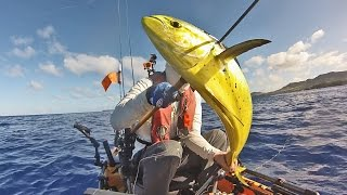 Kayak Fishing on Guam: Mahi from Hobie Pro Angler 14 (HD)