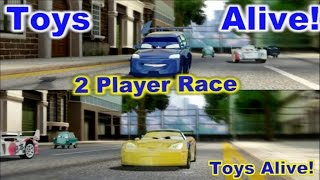 Cars 2: The video game - 2 player splitscreen Race on Hyde Tour