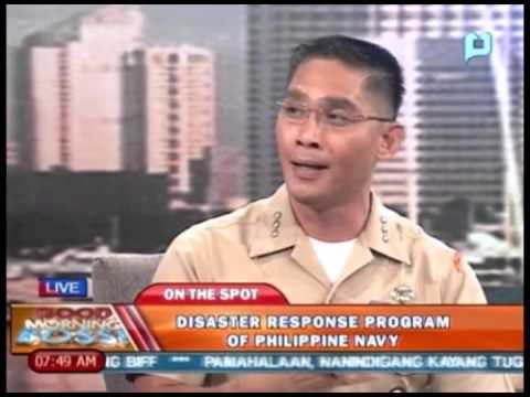 Panayam kay Col. Edgard A. Arevalo, kaugnay sa Disaster Response Program of Philippine Navy