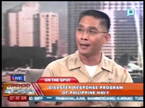Panayam kay Col. Edgard A. Arevalo, kaugnay sa Disaster Response Program of Philippine Navy