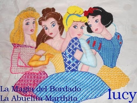 La Magia del Bordado Princesas Hadas Nios  YouTube