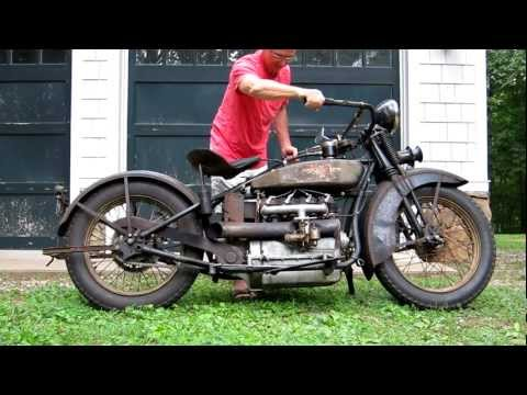 Thumbnail: 1928 Henderson Deluxe Antique Motorcycle Running