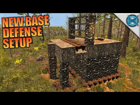 NEW BASE DEFENSE SETUP | WotW MOD 7 Days to Die | Let's Play Gameplay Alpha 16 | S01E08