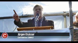 Elsässer vor 5.000 Merkel-Gegnern in Zwickau