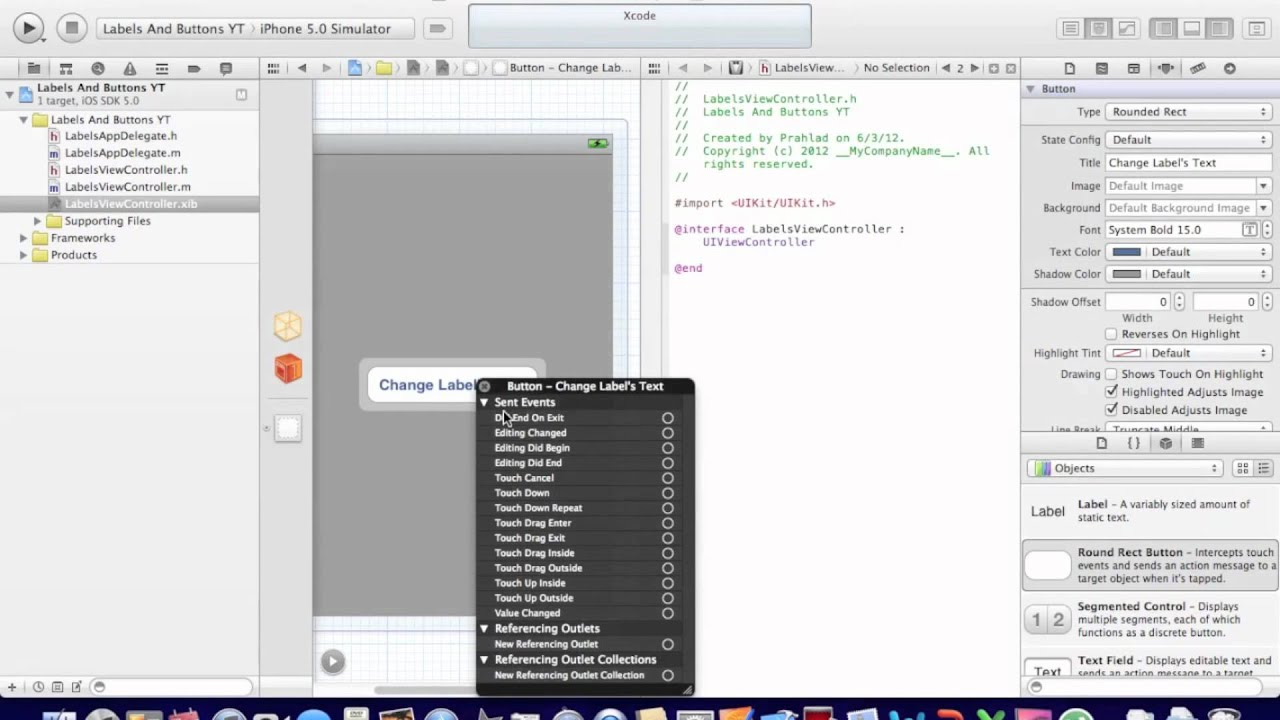 Objective c background image no repeat - Xcode Changing A Label S Text With A Button