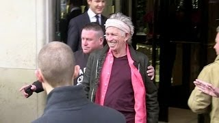 EXCLUSIVE: The Rolling Stones coming out of George V Hotel in Paris