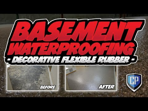 Basement Waterproofing - Decorative Flexible Rubber