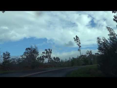 driving to Waimea Canyon Lookout