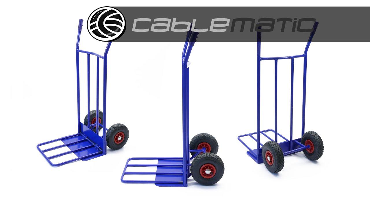 Carretilla de acero de 118cm y carga 350 kg distribuido - Ruedas de carretillas ...