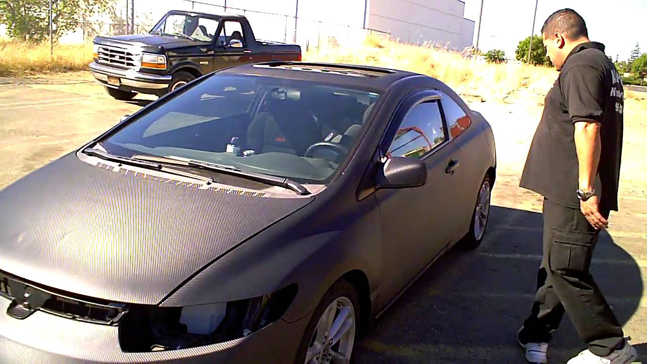 Car Wrap Carbon Fiber 3m Whole Car Sacramento Window