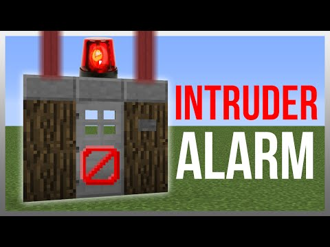 Minecraft 1.12: Redstone Tutorial – Intruder Alarm v2!