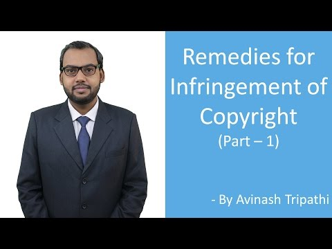 Lecture on Remedies for Infringement of Copyright