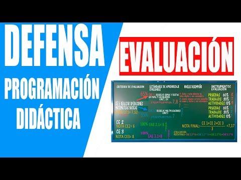 9. EVALUACIÓN. Defensa Programación didáctica Oposiciones