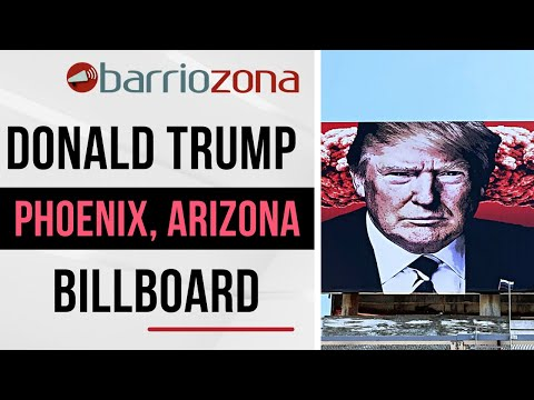 Donald Trump billboard with Nazi symbolism in Phoenix. Art or propaganda?