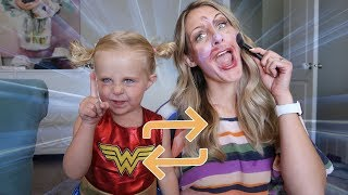 BoDY SWiTCH UP!!  Mom vs BABY! Funny Makeup SKIT