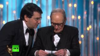 Ennio Morricone wins Oscar for Quentin Tarantino's The Hateful Eight score