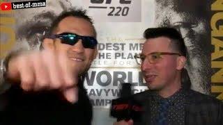 ХАБИБ, ТОНИ ФЕРГЮСОН И ДАНА ПОCЛЕ ПРЕСС КОНФЕРЕНЦИИ UFC 223