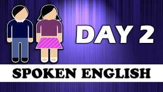 ✔ 20 Days Spoken English Learning Challenge | ✔ Spoken English Learning Video- DAY 2