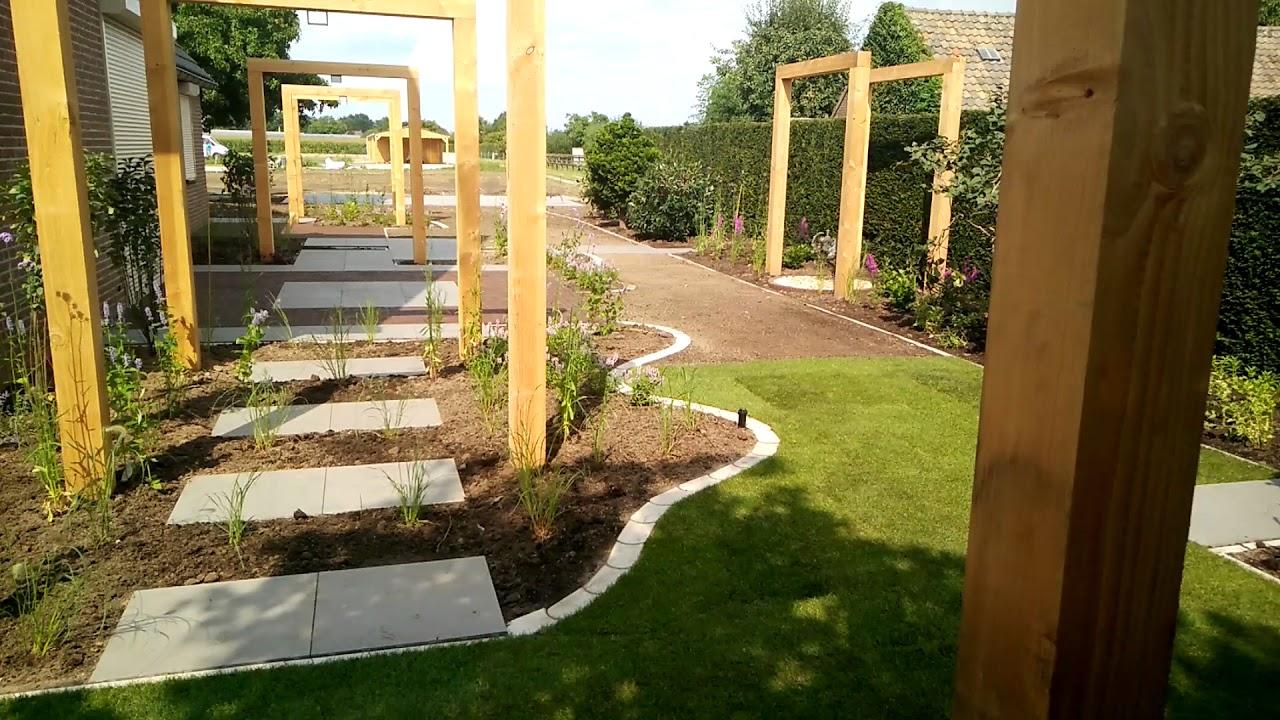 Eigentijdse tuin aangelegd door hoveniersbedrijf for u green youtube