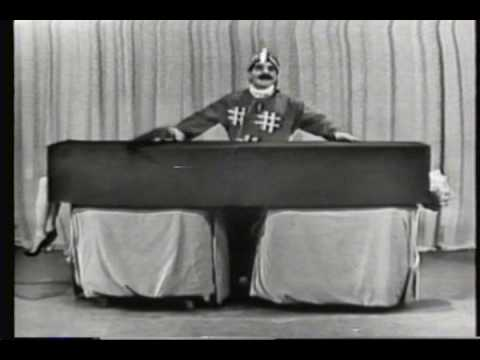 Ernie Kovacs as Matzoh Hepplewhite Saws a Woman in Half!