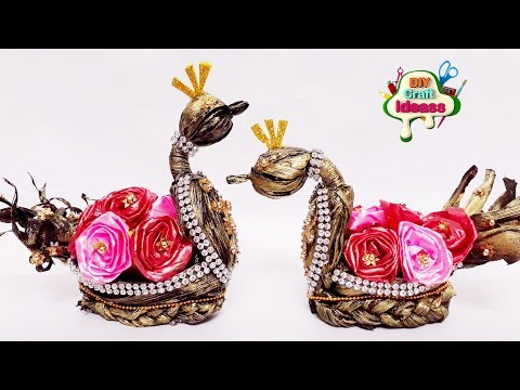 Amazing Craft From Corn Husk | Best Out Of Waste Craft | Corn Husk Swans Diy Idea