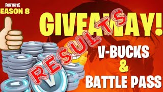 Kostenlose Saison 8 Battle Pass Giveaway Ergebnisse Fortnite Battle Royale