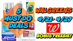 5 MUST DO WALGREENS DEALS 4/21 - 4/27 | FREE RAZORS, TOOTHPASTE & BONUS IBOTTA FREEBIE!