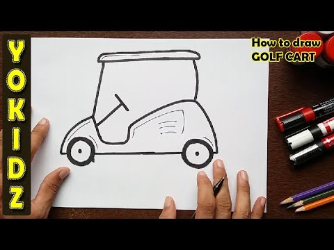 How To Draw A Golf Cart Youtube